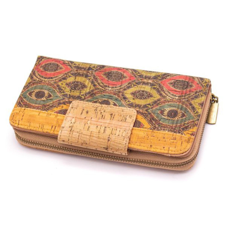 Dolga denarnica z vzorci in zadrgo