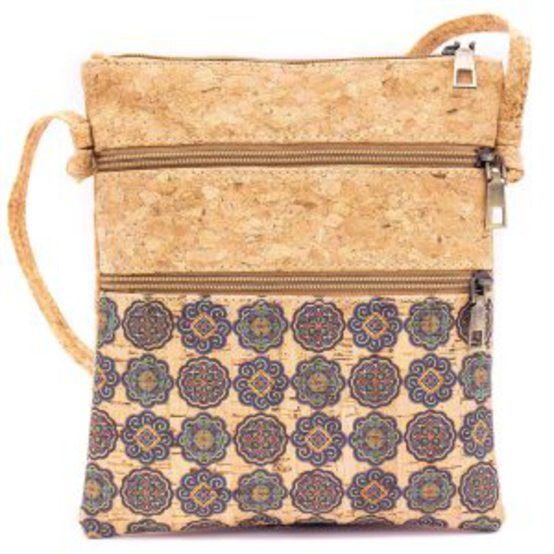 Dvojna čezramna torbica iz plute z vzorci