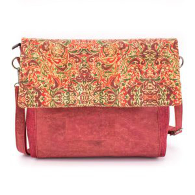 Naramna torbica iz plute z vzorci