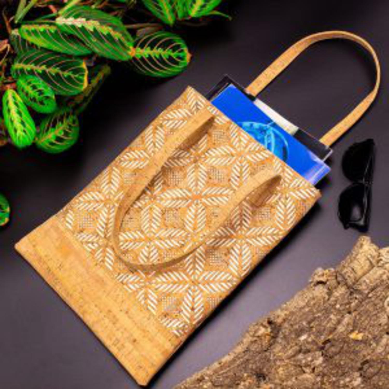 Naravna ročna torbica z lističi