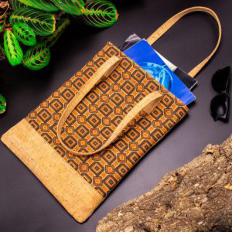 Ročna torbica iz plute Orange-Brown