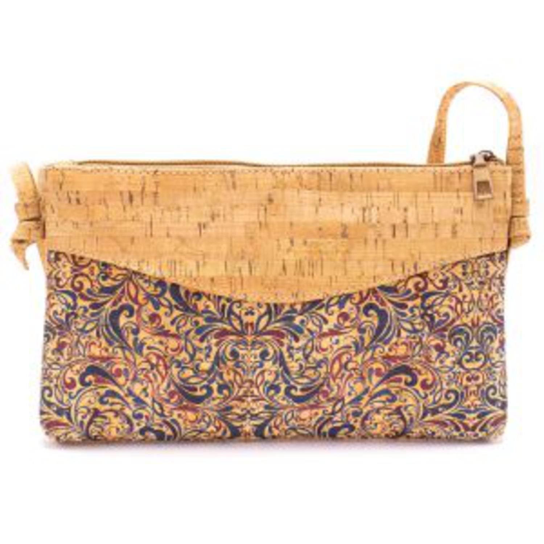 Ženska čezramna torbica iz plute z vzorci